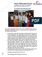 Report on Teachers' Day Celebration -2013