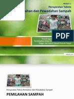 Persyaratan Teknis Pemilahan Dan Pewadahan Sampah