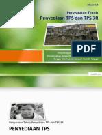 Persyaratan Teknis Penyediaan TPS dan TPST Sampah