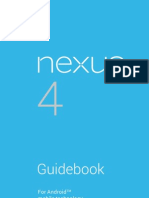 Google Nexus 4 User Manual Guidebook For Android Jelly Bean 4.2.2 (English)