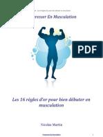 Guide 16 Regles Bien Debuter Musculation