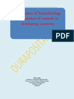 Application of Biotechnology to Nutrition of Animals in Developing Countries