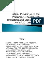 Philippines Disasterriskandmanagementact 100707105616 Phpapp01
