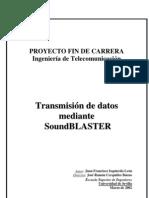 Transmisión de datos mediante soundBLASTER