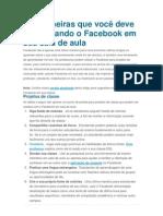 100 Dicas Para Usar o Facebook Na Educacao