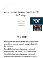 Ethics of Animal Experiments in 3 Steps by Stijn Bruers