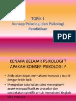 1. Konsep Psikologi Dan Psikologi Pendidikan