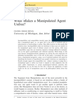 What Makes a Manipulated Agent Unfree