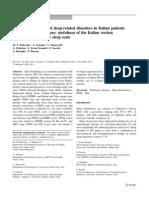 usefulness of the Italian version of Parkinson's disease sleep scale