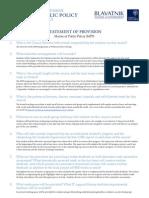 MPP Statement of Provision 2014