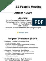 CSEE Faculty Meeting 10-7-09