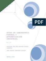 GUIAS DE LABORATORIO CONTROL Y AUTOMATIZACIÓN INDUSTRIAL