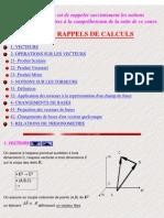 01 Cours De Mécanique - Rappels Mathématiques
