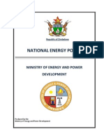 Zimbabwe Energy Policy