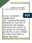 Life Philosophy-- The Rajasthani Folk Wisdom Couplets
