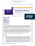 Sept. 2013 Parish Social Ministry News and Notes