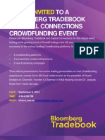Bloomberg Tradebook Crowdfunding Event 9.9.13