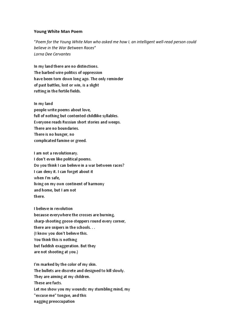 poems about dating a younger man
