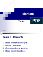 Topic 1 Markets