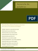 Oración de Francisco de Asís