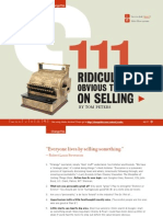 111 Ridiculously Obvious Thoughts On Selling