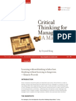 Critical Thinking for Managers