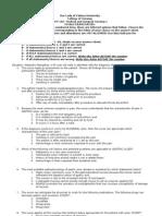 Key Answers and Medical Surgical Nursing 1- FINALS Examinati