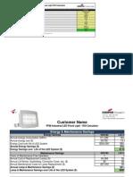 PFM Industrial LED Flood Light ROI Calculator