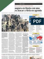El G-20 Se Inaugura en Rusia Con Una Propuesta Para Atacara Siria en Agenda