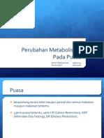 PPT Perubahan Metabolisme Pada Puasa Revisi