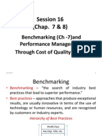 Session 16(BenchMarking& Cost of Quality)