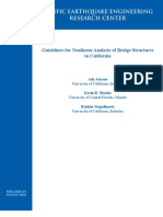 Guidelines for Nonlinear Analysis of Bridge Structures in California