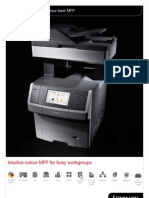 Midshire Business Systems - Lexmark XS748de - Colour Laser MFP Brochure