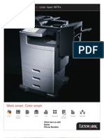 Midshire Business Systems- Lexmark XS796 Family - Colour Laser MFPs Brochure