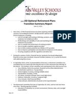 St. Vrain Plan Transition Summary