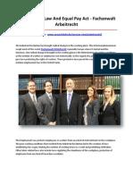 Fachanwalt Arbeitrecht