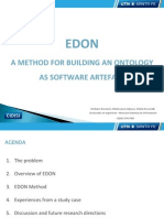 EDON a Method for Building an Ontology as Software Artefact