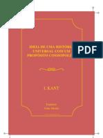 Kant Ideia de Uma Historia Universal