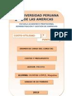 Monografía de Costos y Presupuesto