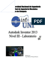 Manual Inventor 2013 - Nivel 3 - Laboratorio