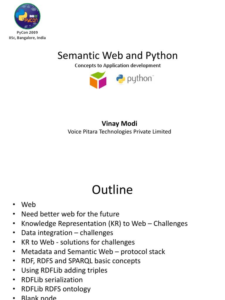 Semanticweb Python   Resource Description Framework