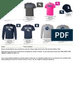 Ansonia Football Gear Order Form