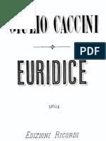 Caccini Euridice Ricordi-Score