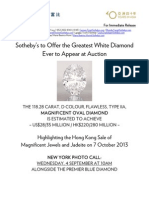 Sotheby'S To Offer The Greatest White Diamond Ever To Appear At Auction