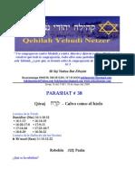 Parashat No 38 Adul 5769