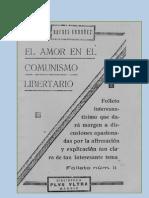 AMOR EN EL COMUNISMO LIBERTARIO, EL - R.ORDOÑEZ