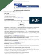 Carta Organica Del Banco Central de La Republica Argentina (Ley 20.539)