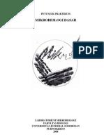 Petunjuk Praktikum Microbiologi Dasar