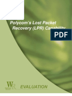Wainhouse Research - Polycom's Lost Packet  Recovery (LPR) Capability