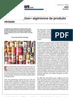 La Liste Negative Algerienne de Produits Revisee